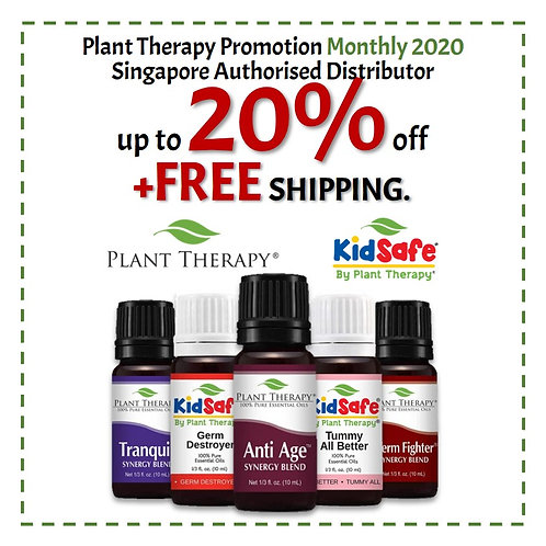 Plant Therapy Monthly Promotion Up to 20% Off + Free Shipping