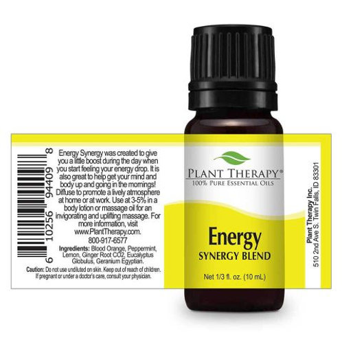 Energy Synergy Plant Therapy 100% Pure Essential Oil