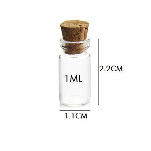 Cork Glass Bottles 1ML