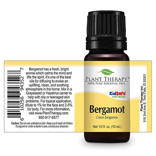 Bergamot Plant Therapy KidSafe 100% Pure Essential Oil