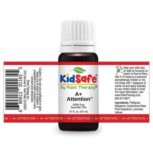 A+ Attention Plant Therapy KidSafe 100% Pure Essential Oil