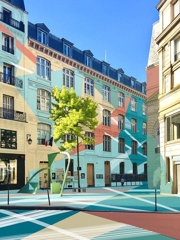 Rue de la Jussienne, peinture digitale,