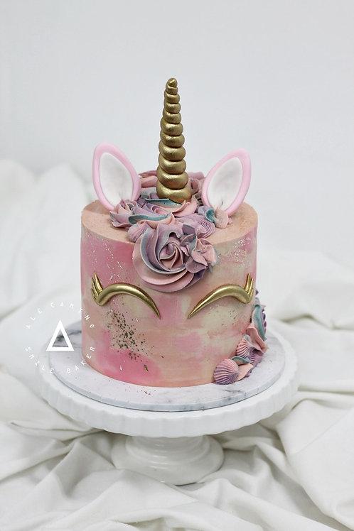 Unicornio Acuarela Pink