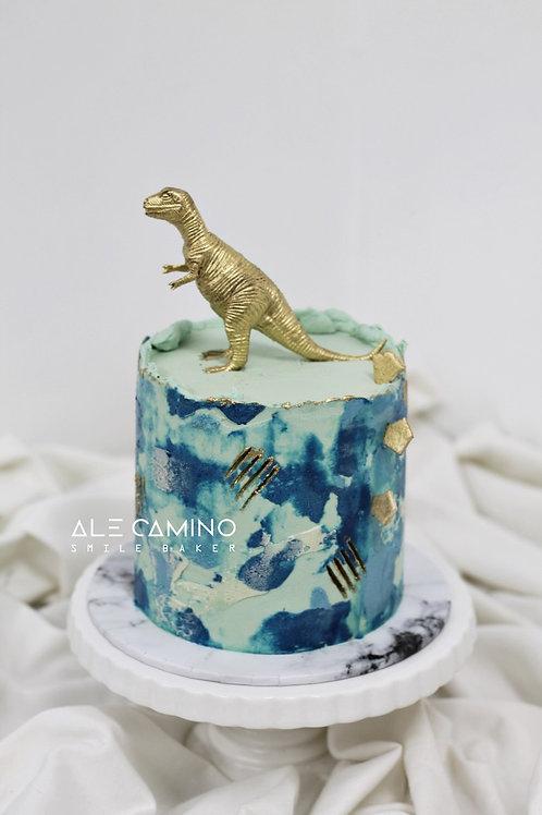 Dinosaurio Acuarela Blue