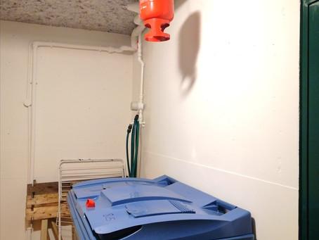 Produit | Protection d'un local poubelles avec un extincteur automatique pendulaire EUROFEU