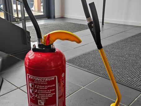 PRODUIT | Extincteur ROT 6Kg Poudre Classe D pour feux de métaux