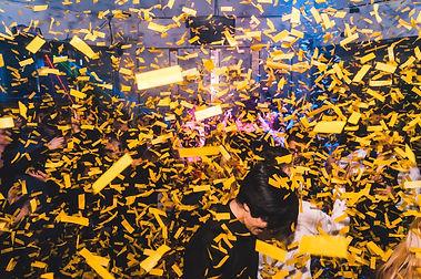 Fx Hire Co2 confetti blaster in action -