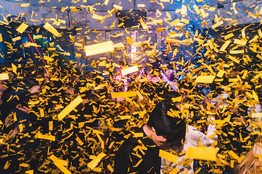 Fx Hire Co2 confetti blaster in action -