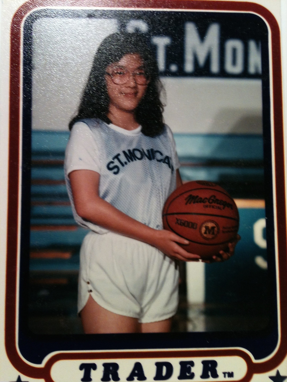 Much to the chagrin of my teammates, I did join the basketball team in the 8th grade. I wanted to hang out with my best friend, Meredith, who was a very talented basketball player. (Sorry about the glasses, folks. It was the eighties.)