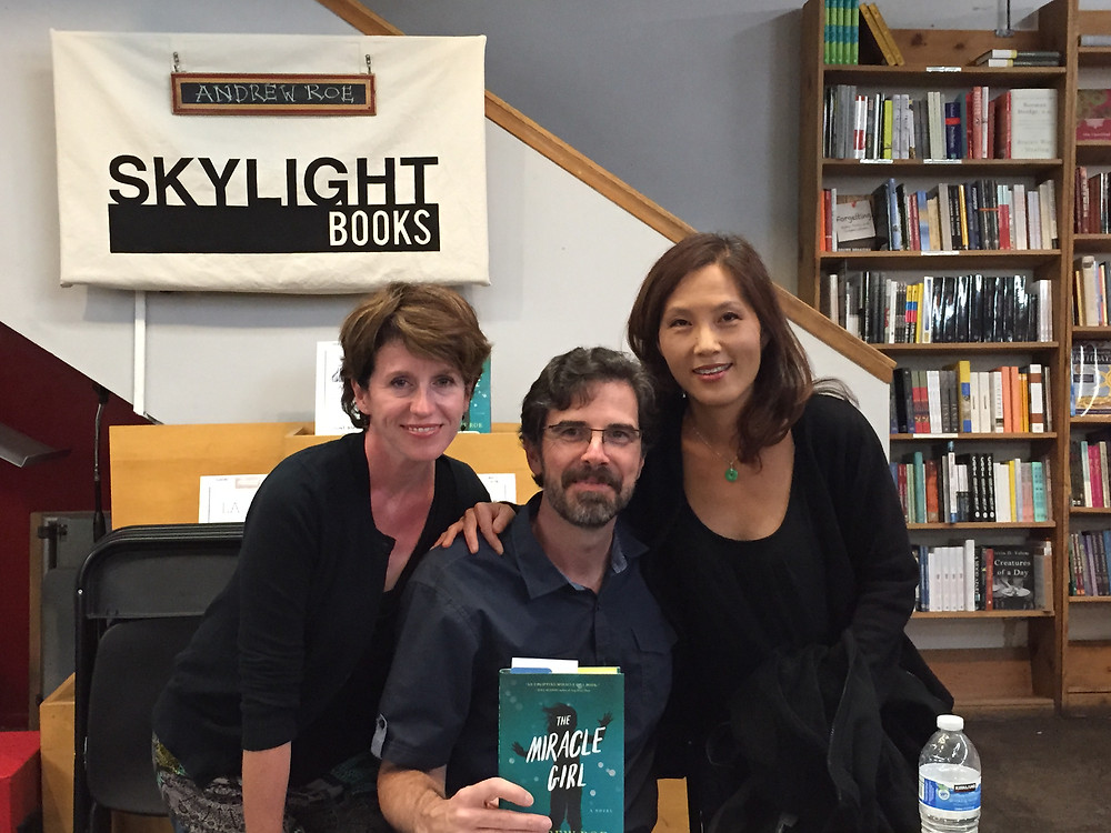 Here I am with Andy and his wife, Maria at Skylight Books.