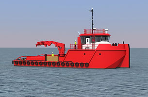 25m Anchor Handling & Towing Vessel Rend