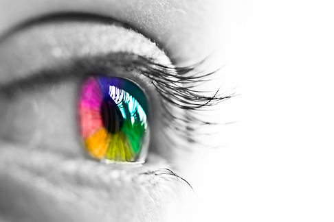 Girl colorful and natural rainbow eye on white background.jpg