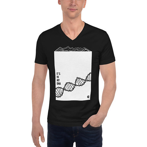 It's in my DNA bike love -Unisex Short Sleeve V-Neck T-Shirt