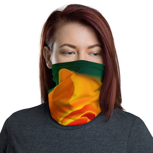California Poppy Flower Neck Gaiter