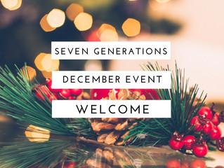 12月♡セブン・ジェネレーションズ関連イベント情報