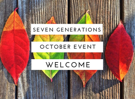 10月♡セブン・ジェネレーションズ関連イベント情報