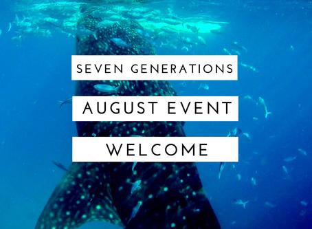 8月♡セブン・ジェネレーションズ関連イベント情報