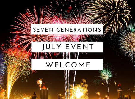 7月♡セブン・ジェネレーションズ関連イベント情報