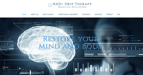NAD Drip Therapy Website Design