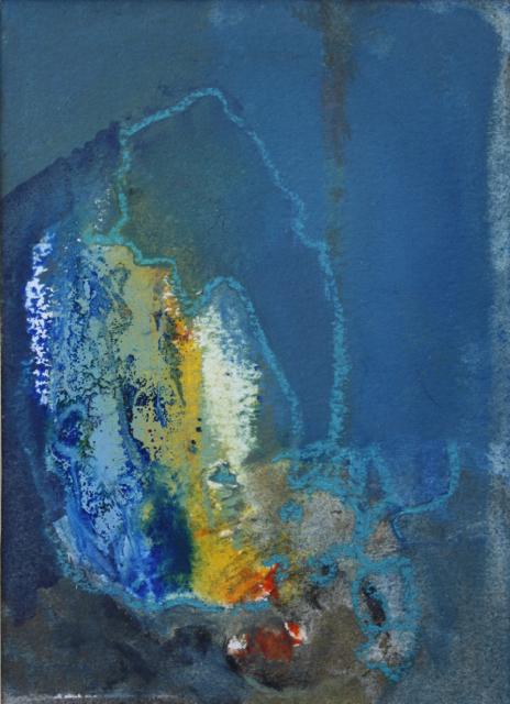 bleu,jaune coquillage