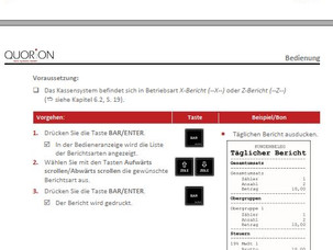 Tagesabschluss korrekt und schnell gemacht mit der Registrierkasse QMP von Quorion