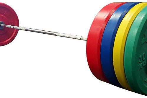 Set de Entrenamiento Bumper de Discos de Caucho - 160 kg (color)