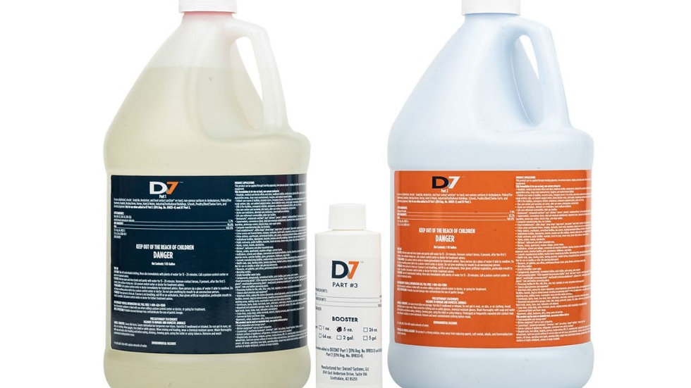 D7 Multi-Use Disinfectant / Decontaminant, 4-Gallon Kit