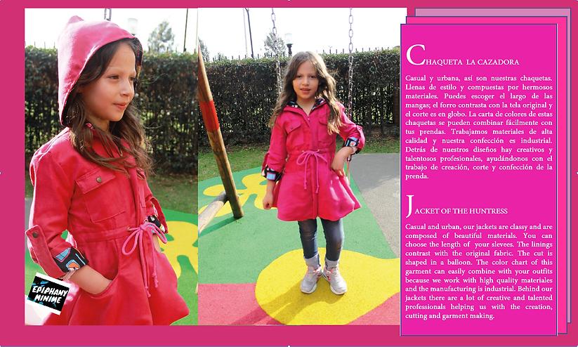kids jacket - girl jacket - chaqueta para niña
