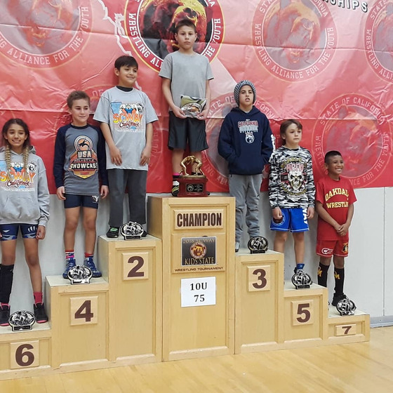 Tokay Wrestling Club takes home four medals@SCWAY Kids State