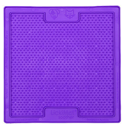 LickiMat Soother Slow Feeder Mat - Purple