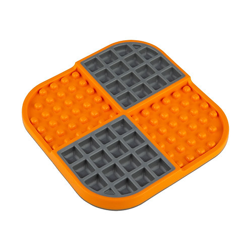 LickiMat Slomo Double Slow Feeder - Orange