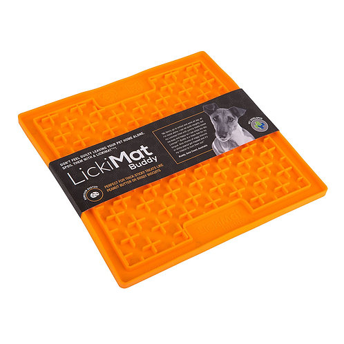 LickiMat Buddy Slow Food Mat - Large Orange
