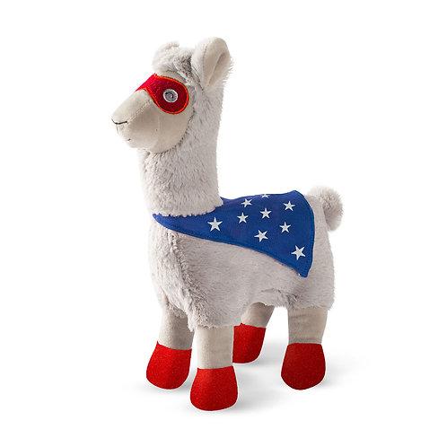 Fringe Studio Super Llama To The Rescue Plush Dog Toy