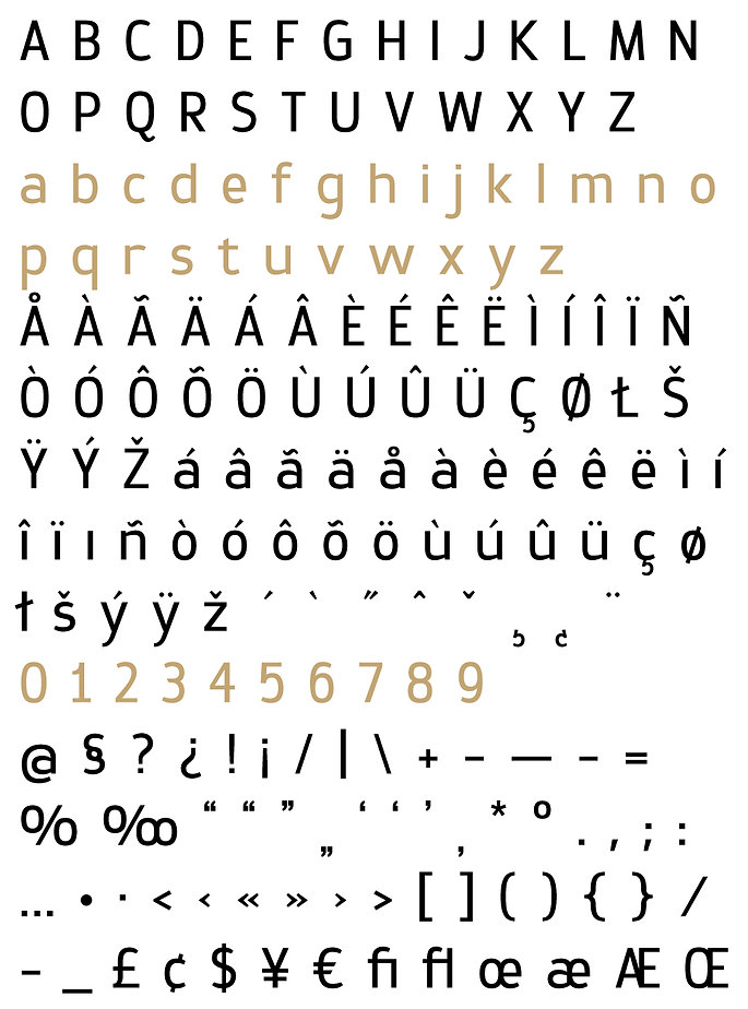 Prox typeface - Designed by Michael Parson - Typogama type foundry