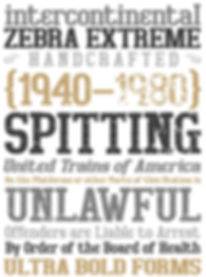Bigboy typeface - Designed by Michael Parson - Typogama type foundry