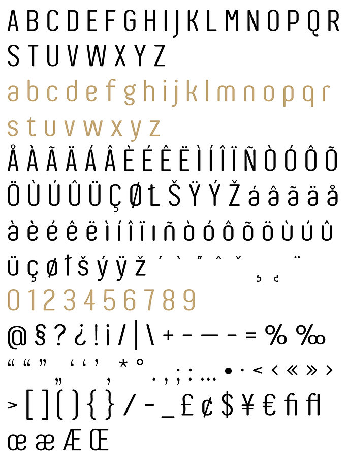 Auro typeface - Designed by Michael Parson - Typogama type foundry