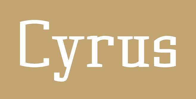 Cyrus typeface - Designed by Michael Parson - Typogama type foundry
