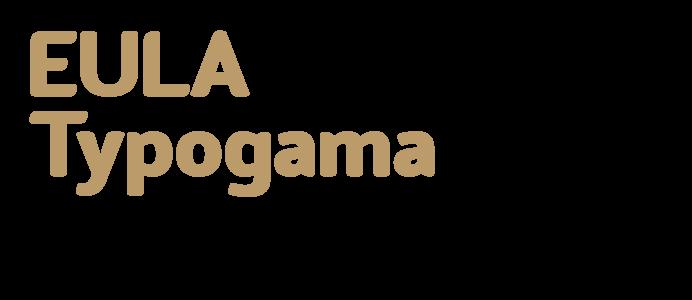 EULA (End User Licence Agreement) Typogama