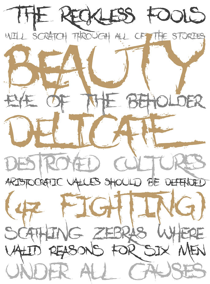 Dejecta typeface - Designed by Michael Parson - Typogama type foundry
