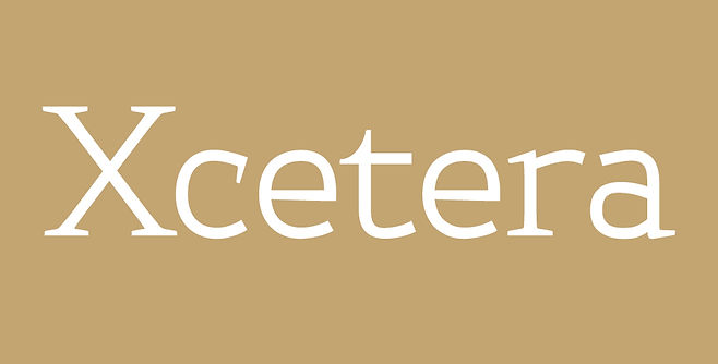Xcetera typeface - Designed by Michael Parson - Typogama type foundry