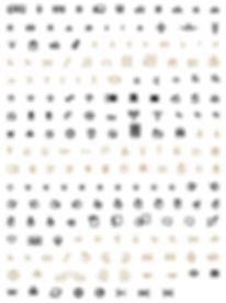 Pictypo typeface - Designed by Michael Parson - Typogama type foundry
