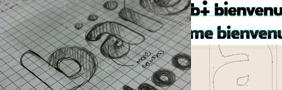 Typogama design process one