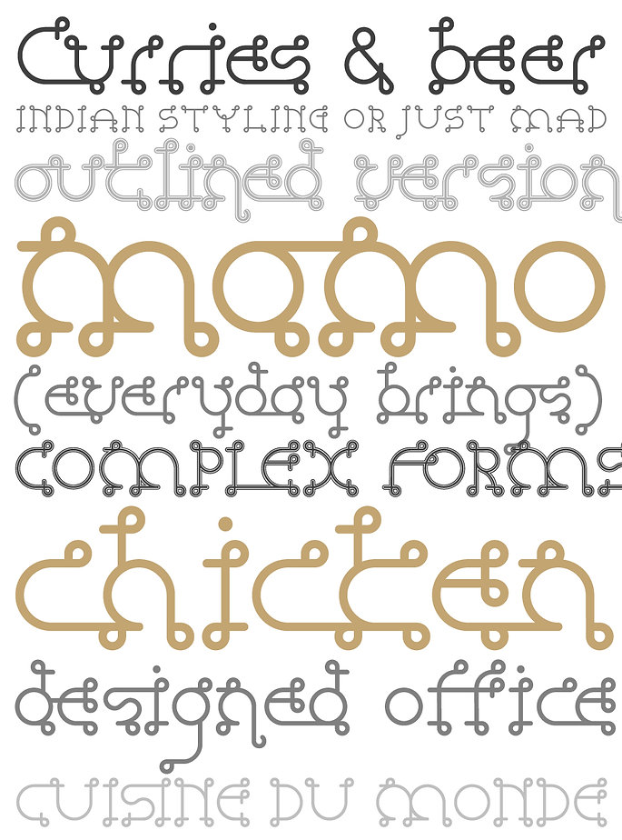 Vindaloo typeface - Designed by Michael Parson - Typogama type foundry