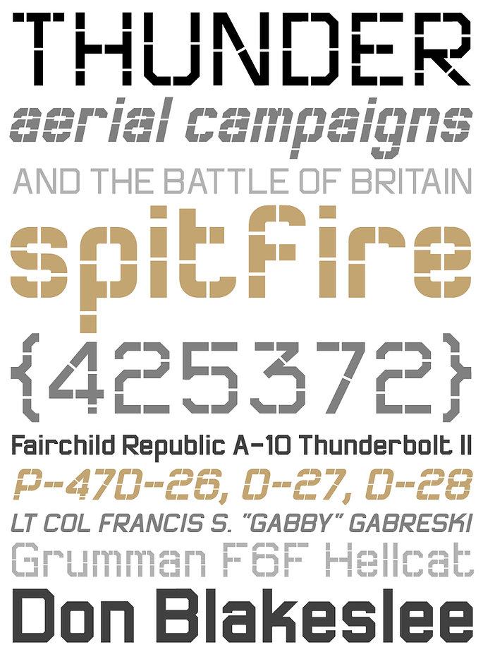 Thunderbolt typeface - Designed by Michael Parson - Typogama type foundry