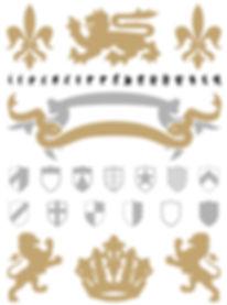 Heraldry typeface - Designed by Michael Parson - Typogama type foundry