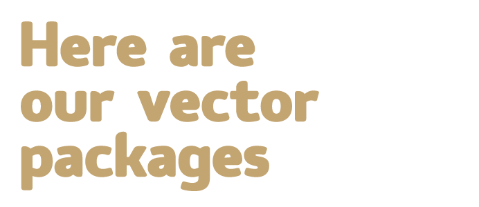 Here are our vector packages