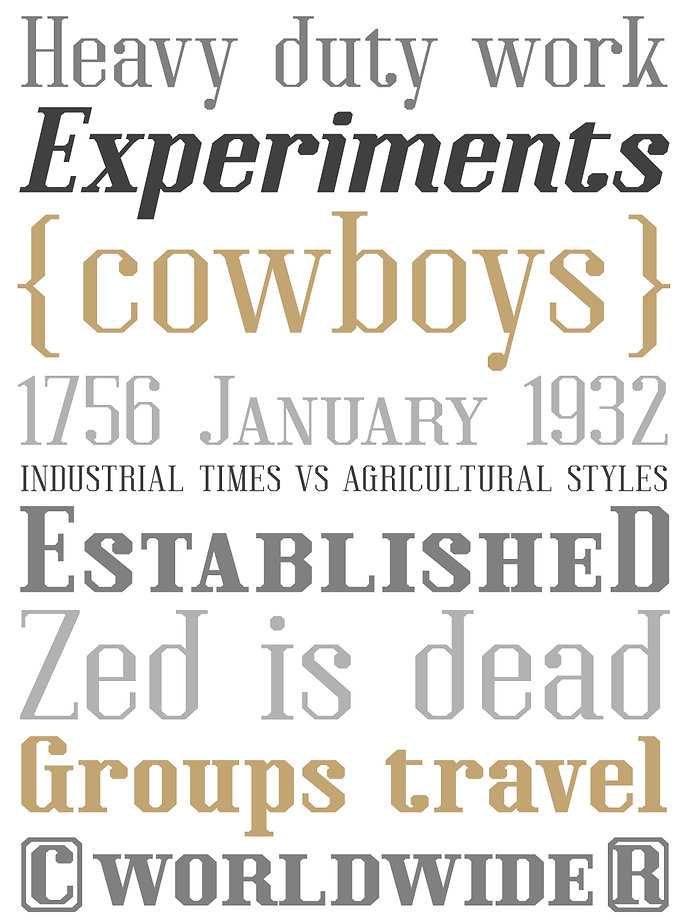 Kimbo typeface - Designed by Michael Parson - Typogama type foundry