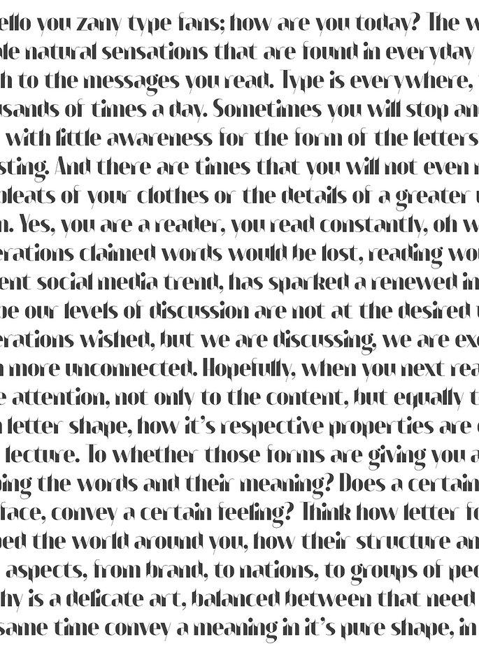Bangbang typeface - Designed by Michael Parson - Typogama type foundry