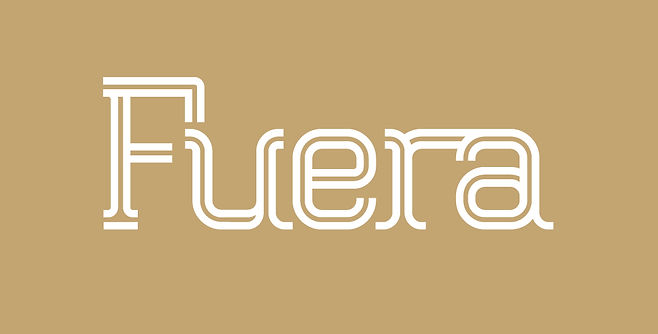 Fuera typeface - Designed by Michael Parson - Typogama type foundry
