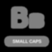 Opentype small capitals